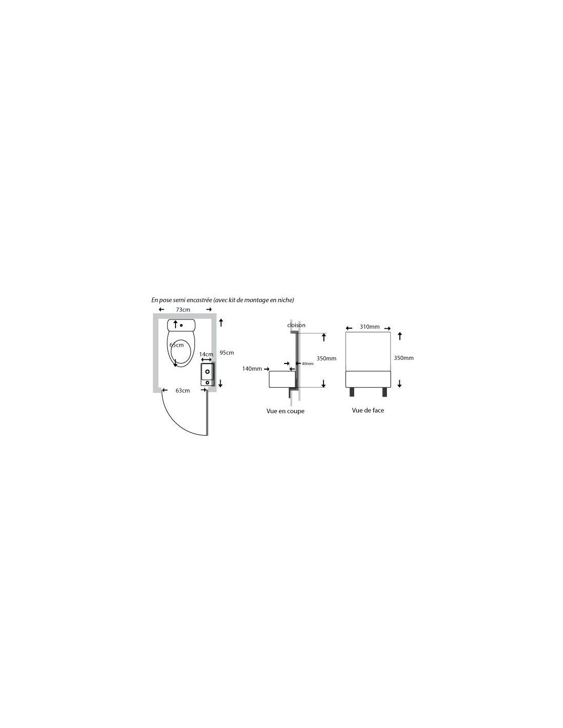 Kit De Semi Encastrement Pour Lave Main Compact Article