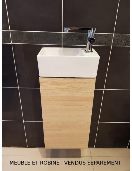Meuble bas pour lave-main compact