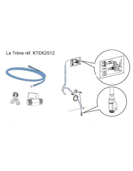 Kit de raccordement eau froide pour prises invisibles